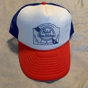 Vintage Pabst Blue Ribbon Trucker Nissun Hat
